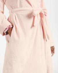 Ted Baker Clove Long Embossed Robe - Pink