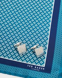Ted Baker Cufflink And Pocket Square Giftset - Blue