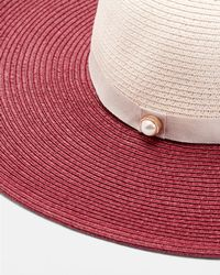 03dc7305415 Ted Baker - Colour Block Floppy Straw Hat - Lyst