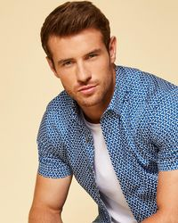 Ted Baker - Printed Shirt - Lyst