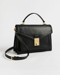 Ted Baker Luggage Lock Medium Satchel - Black