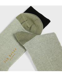 Ted Baker Striped Sock - Green