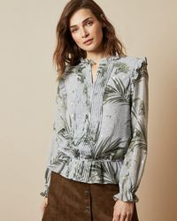 Ted Baker - Highland Frill Blouse - Lyst