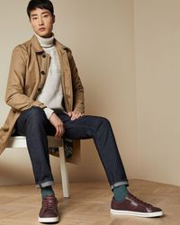 Ted Baker Textured Branded Sneakers - Multicolor