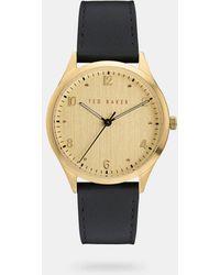 Ted Baker - Reloj Con Correa De Piel - Lyst