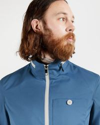 Ted Baker Plain Zip Through Jacket - Blue