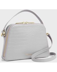 Ted Baker Small Croc Detail Top Handle Bag - Purple
