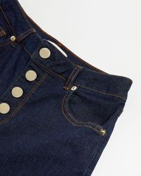 Ted Baker Button Detail Jeans - Blue