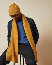 Ted Baker Multi Stitch Scarf - Yellow