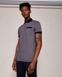 Ted Baker - Jacquard Polo Shirt - Lyst