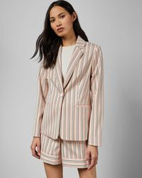 Ted Baker - Striped Tailored Jacket - Lyst