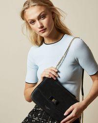Ted Baker Danieel Leather Shoulder Bag - Black