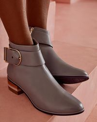 Ted Baker - Buckled Leather Chelsea Boots - Lyst