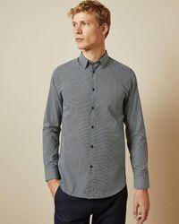 Ted Baker Femme Geometric Printed Shirt - Blue