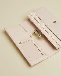 Ted Baker Emmeyy Patent-front Leather Wallet - Pink