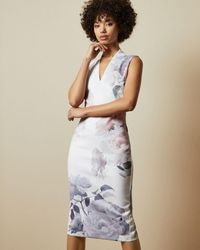 Ted Baker Bouquet Bodycon Dress - White