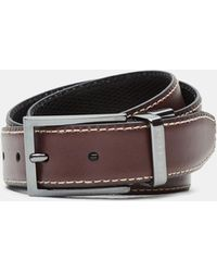 Ted Baker - Leather Reversible Belt - Lyst