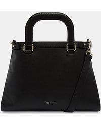 5fdf6355605 Ted Baker - Padded Handle Leather Tote Bag - Lyst