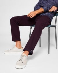 Ted Baker - Slim Fit Brushed Cotton Chinos - Lyst