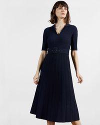 Ted Baker Knitted Midi Dress - Blue