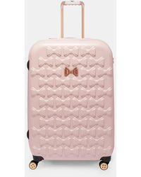 Ted Baker Bow Detail Large Suitcase - Pink