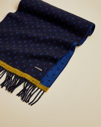 Ted Baker Spotted Scarf - Blue
