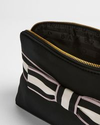 Ted Baker Branded Webbing Neoprene Wash Bag - Black