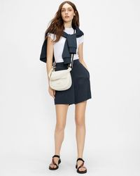 Ted Baker Jersey Short With Satin Trim - Blue
