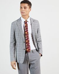 Ted Baker Bold Floral Printed Tie - Red