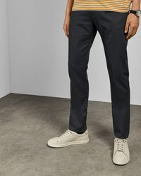 Ted Baker Straight Fit Denim Jeans - Gray
