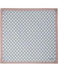 Ted Baker - Geo Print Silk Pocket Square - Lyst