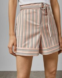 Ted Baker Striped Tailored Shorts - Pink