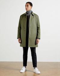 Ted Baker Single-breasted Mac - Green
