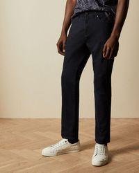 Ted Baker Straight Leg Navy Jeans - Blue