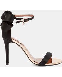 36225232da918e Ted Baker Camiyl Ankle Strap Sandals in Metallic - Lyst