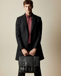 Ted Baker Pebbled Leather Satchel Bag - Black