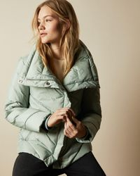 Ted Baker Wrap Padded Jacket - Green
