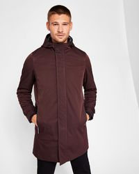 Ted Baker - Hooded Mac - Lyst