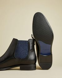 Ted Baker Leather Chelsea Boot - Schwarz