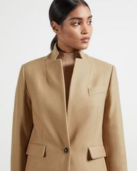Ted Baker Straight Tailored Coat - Natural