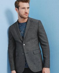 906bfed27 Ted Baker Wool And Cashmere-blend Jacket in Blue for Men - Lyst