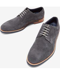 Ted Baker - Perforated Suede Derby Shoes - Lyst