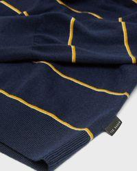 Ted Baker Stripe Mock Neck Knit Top - Blue