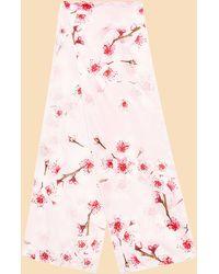 Ted Baker - Soft Blossom Skinny Silk Scarf - Lyst