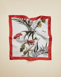 Ted Baker Silk Floral Pocket Square - Blue