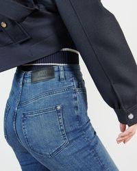 Ted Baker Skinny Mid Wash Jean - Blue
