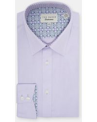 Ted Baker - Diamond Dobby Cotton Shirt - Lyst