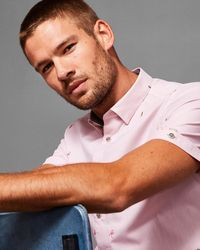 Ted Baker - Embroidered Cotton Shirt - Lyst