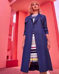 Ted Baker - Belted Trench Coat - Lyst