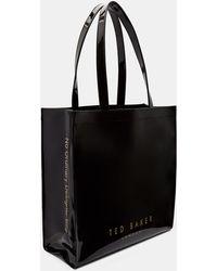 Ted Baker Grand Sac Emblématique Doux - Noir